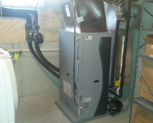 geothermal system in a basement