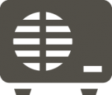 gray icon of an air conditioning system