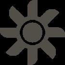 gray icon of a fan