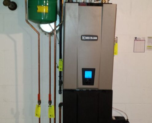 gas and hot water boiler