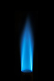 natural gas blue flame image