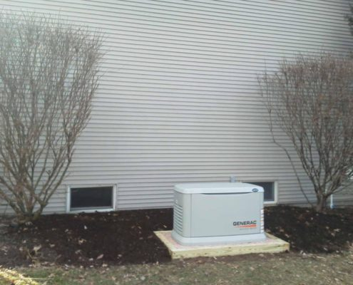generac system outside of a house