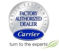 Carrier Residential factory authorized dealer logo