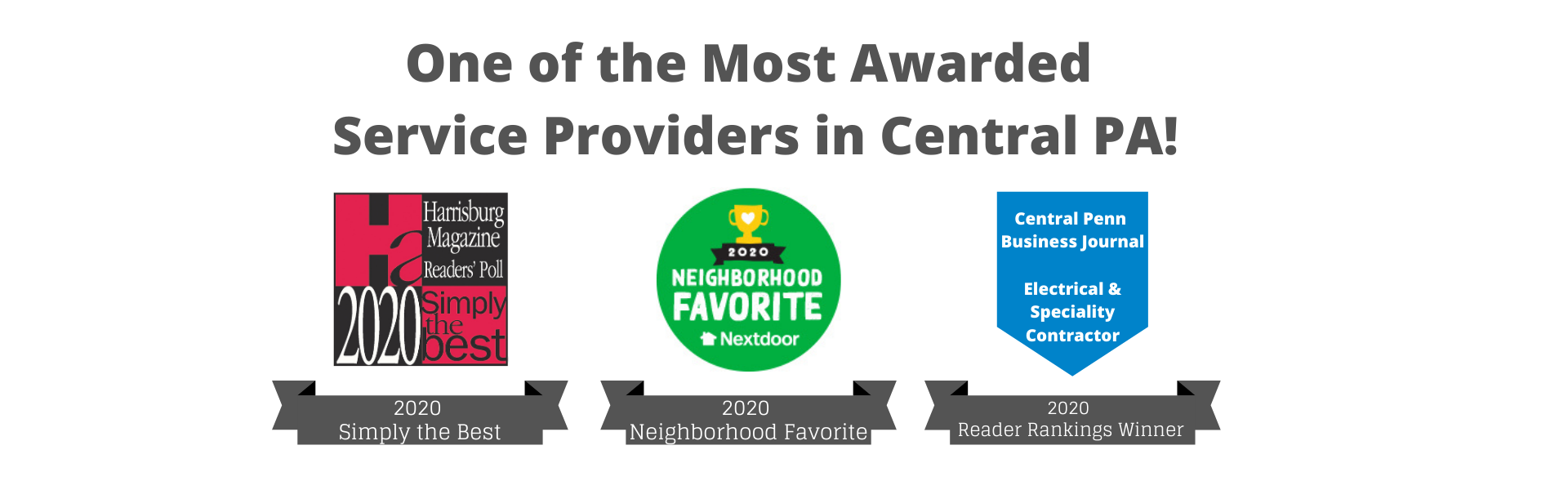 One of the most awarded service providers in central PA - 3 awards Zimmerman has won